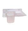 Zahab Fancy Transparent Acrylic Soap Dish with Tumbler