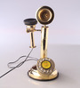 Able Retro Telephone in Gold by Amberville