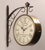 Abbadie Retro Wall Clock in Gold by Amberville