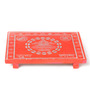 Zahab Orange Ply Wood Handcraft Puja Patla