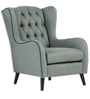 Zaletha Wingback Chair in Pastel Blue Colour by Madesos
