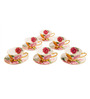 ZARS Gift Box Bone China 200 ML Floral Print 12-piece Cup and Saucer Set