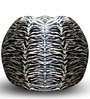 Zebra Printed Classic Bean Bag XXXL size in Colour with Beans by Style Homez