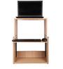 ZEN Cube Laptop Desk with Shelfs in Brown Colour by Fitizen