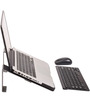 Zen Grid Ergonomic Laptop Desk in Metallic Grey Colour by Fitizen