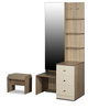 Zen Premimum Dressing Table with Stool in Sonoma Oak Finish by Godrej Interio