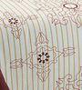 Zesture Bring Home Maroon & Cream Double Bed Sheet Set