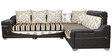Zircon Corner Sofa in Cream & Brown Fabric by Sofab