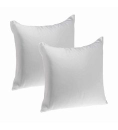 Zikrak Exim White Polyester 16 X 16 Inch Non Woven Cushion Inserts - Set Of 2
