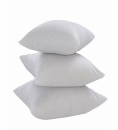 Zikrak Exim White Polyester 16 X 16 Inch Non Woven Cushion Inserts - Set Of 3