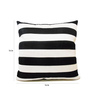 Zikrak Exim Black & White Polyester 16 x 16 Inch Cushion Cover