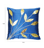 Zikrak Exim Blue Polyester 16 x 16 Inch Cushion Covers - Set of 5