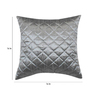 Zikrak Exim Grey Polyester 16 x 16 Inch Cushion Cover with Inserts - Set of 10