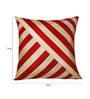Zikrak Exim Red & Beige Polyester 16 x 16 Inch Oblique Design Cushion Cover with Inserts - Set of 2