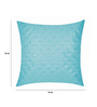 Zikrak Exim Sky Blue Polyester 16 x 16 Inch Square Quilting Cushion Cover