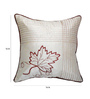 Zikrak Exim White Polyester 16 x 16 Inch Embroidered Cushion Covers - Set of 5