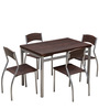 Zita Four Seater Dining Set in Chocolate Colour by Royal Oak