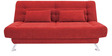 Zuri supersoft Sofa bed in Red colour by Furny