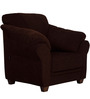 Zurich Delight One Seater Sofa in Dark Brown Colour by Urban Living