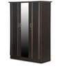 Zurina Three Door Wardrobe with Mirror in Brown Finish by Godrej Interio
