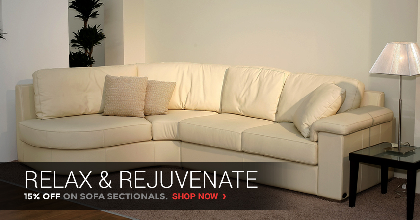 Relax & Rejuvenate | 15% Off on Sofa Sectionals