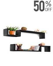 Set Of 2 Wall Shelves