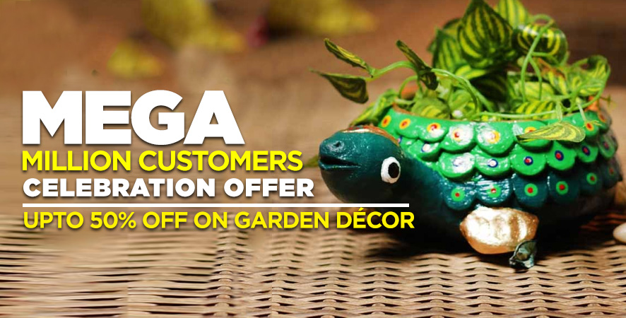Mega Million Milestone UPTO 50% OFF On Graden Décor