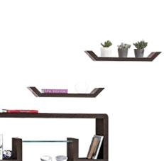 Set of Two Mango Wood Shelves