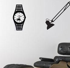Random Black Wall Clock