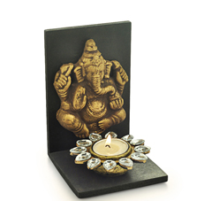 G&S Ganesha Diya T Light