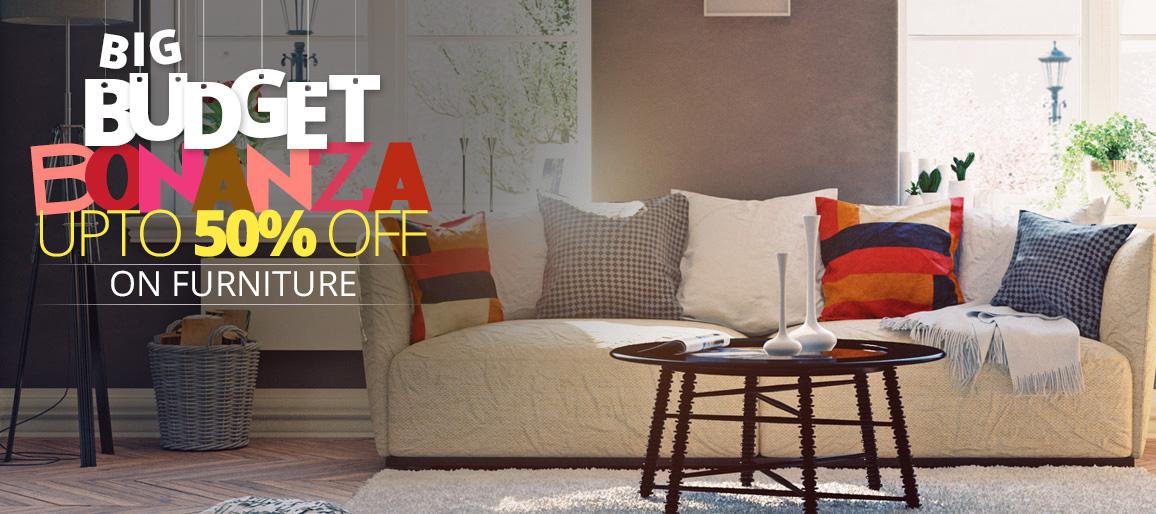 Big Budget Bonanza | UPTO 50% OFF on furniture