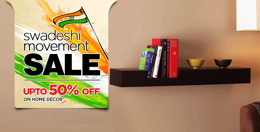 swadeshi movement sale  upto 50% off on decor