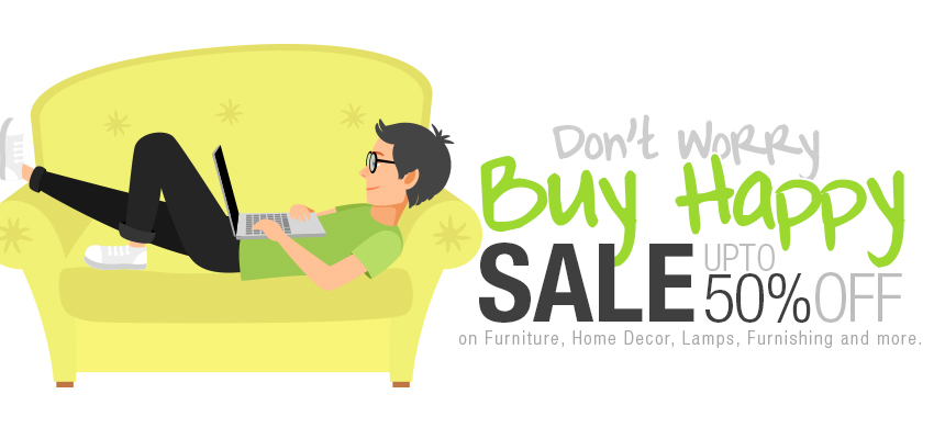 Don't worry Buy Happy | Sale upto 50% off